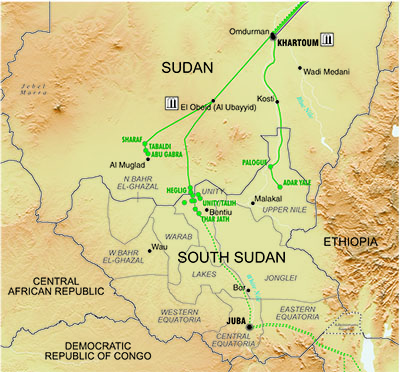 Oil and gas infrastructure of Sudan and South Sudan
