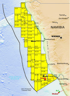 Figure1: Namibia offshore blocks