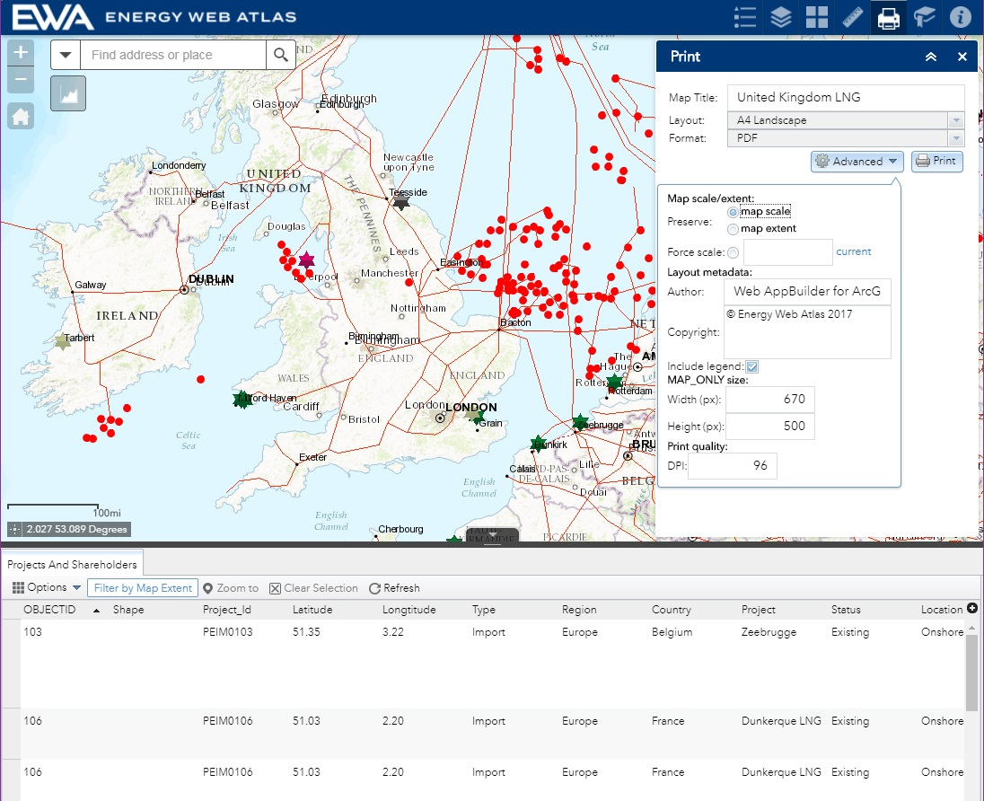 Energy web atlas lng web application coming soon export and print customised data and images gumiabroncs Choice Image